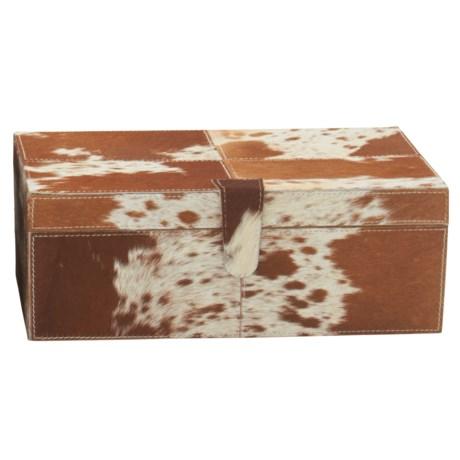 "UMA Leather and Hide Storage Box - 14"" Small Rectangle"