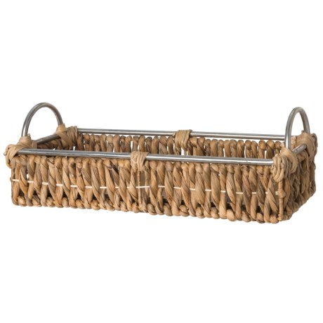 UMA Small Wicker and Metal Tray - 18""