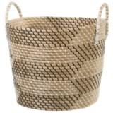 """UMA Medium Seagrass Print Basket with Handles - 17"""""""