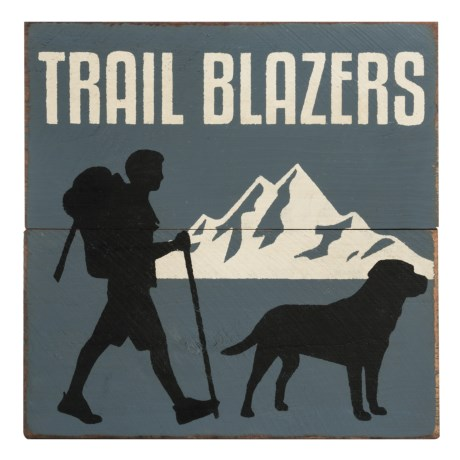 "Seven Anchor Designs 20x20""  Trail Blazers Wooden Sign"