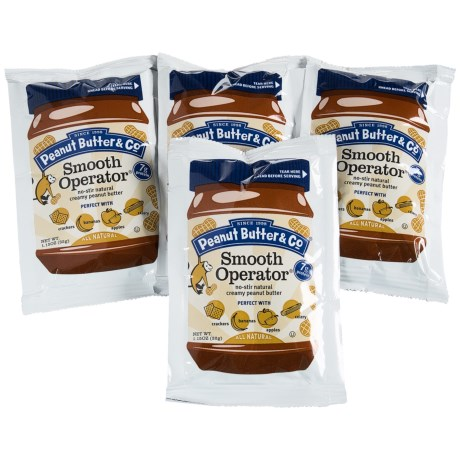 Peanut Butter & Co Smooth No-Stir Peanut Butter Packets - 4-Pack