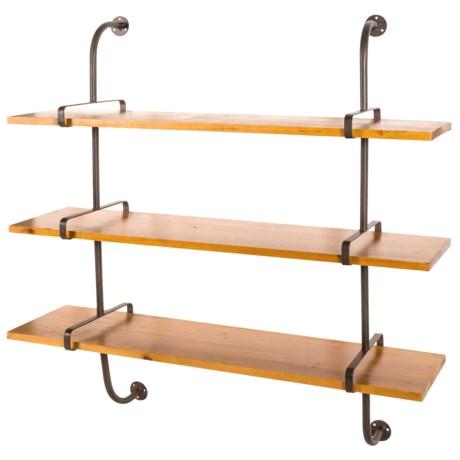 "UMA Wood and Metal Pipe Shelf - 38x38"""