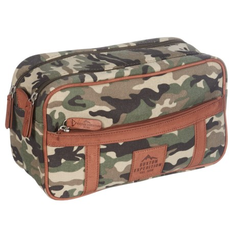 Buxton Expedition Double Zip Travel Kit