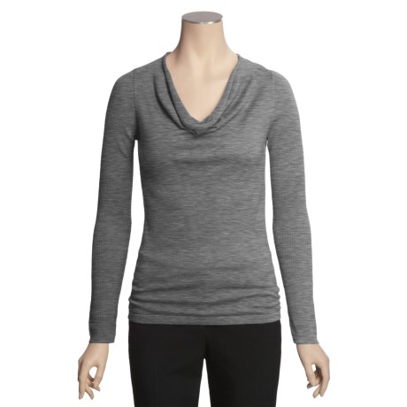 Kinross Cashmere Kinross Drape Neck Sweater - Worsted Cashmere (For Women)
