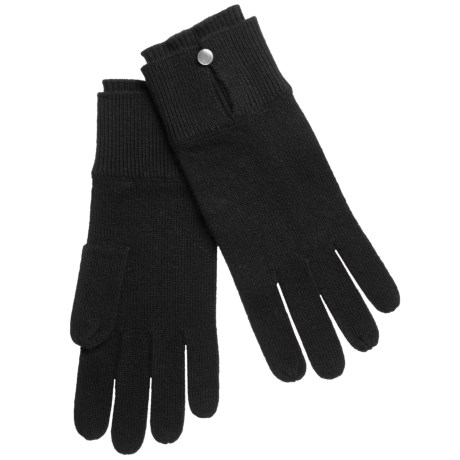Kinross Cashmere Kinross Double-Cuff Gloves - Cashmere (For Women)
