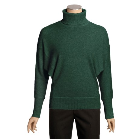Kinross Oversized Dolman Turtleneck Sweater - Cashmere (For Women)