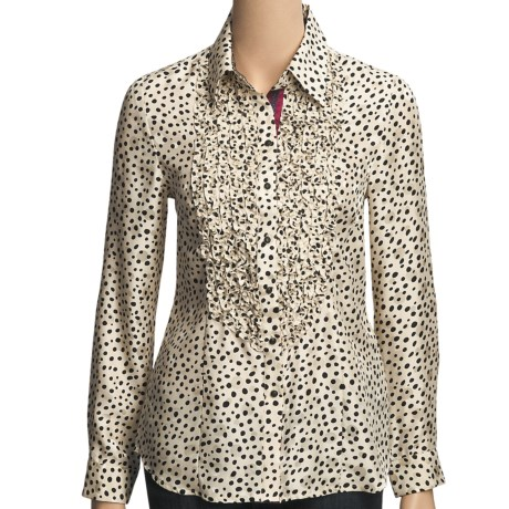 Robert Graham Cosmic Silk Jacquard Shirt - Long Sleeve (For Women)
