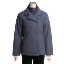 Woolrich Kensal Wool Pea Coat - Taffeta Lined (For Women)