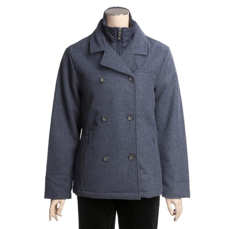 Woolrich Kensal Wool Pea Coat - Taffeta Lined (For Women)