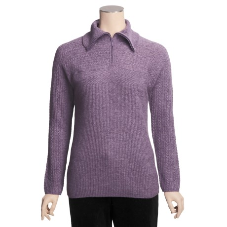 Woolrich Brookeville Lambswool Sweater - Zip Neck (For Women)