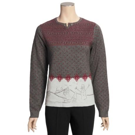Woolrich Snowman Scene Sweater (For Women)