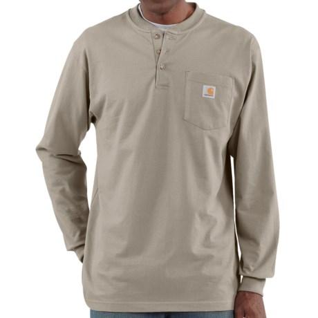 Carhartt Workwear Henley Shirt - Long Sleeve  (For Tall Men)