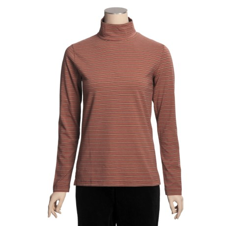 Woolrich Striped Mock Turtleneck - Stretch Cotton Jersey, Long Sleeve (For Women)