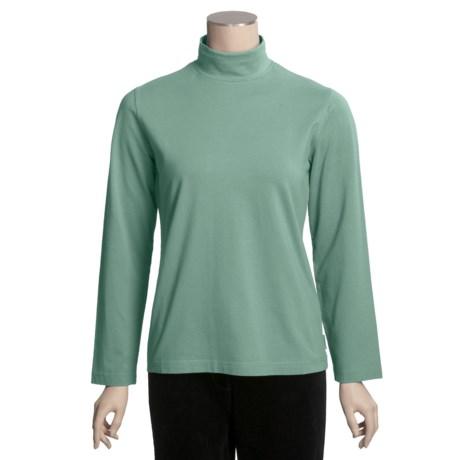 Woolrich Kalista Cotton Mock Neck - Reflex Stretch, Long Sleeve (For Women)
