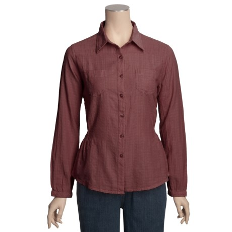 Woolrich Kettle Creek Dobby Shirt - Cotton, Long Sleeve (For Women)