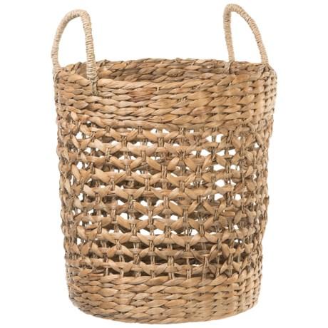 """UMA Large Tall Seagrass Basket - 21"""""""