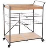 "UMA Metal and Wood Storage Cart - 31x15.5x36"""
