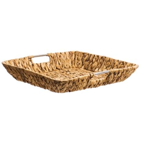 """UMA Large Square Seagrass Tray - 18"""""""