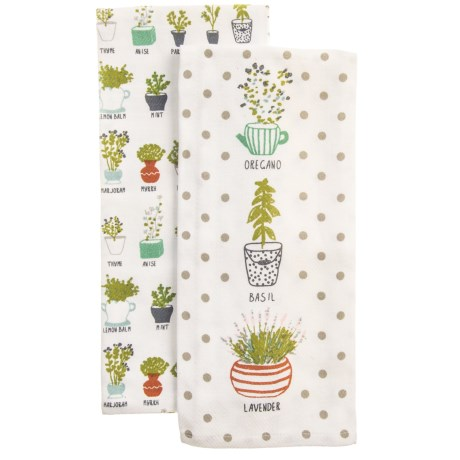 EnVogue Herbs Printed Kitchen Towels - Set of 2