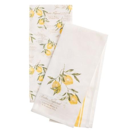 EnVogue Lemon Script Kitchen Towels - Set of 2