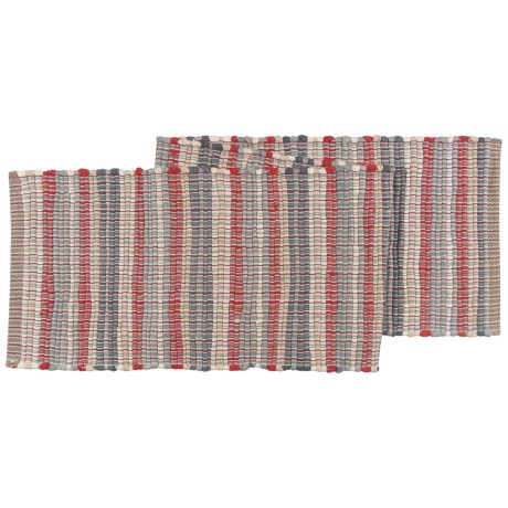 Stitch & Shuttle Chindi Stripe Table Runner - 13.5x70""