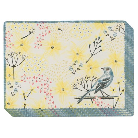 Now Designs Cork-Backed Mockingbird Placemats - Set of 4