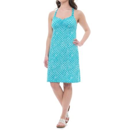 Dakini Printed Cincher Strap Dress - Built-In Bra, Sleeveless (For Women)