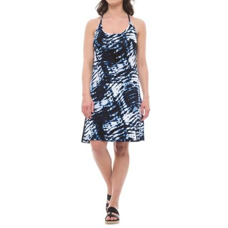 Dakini Strappy Keyhole Back Tank Dress - Built-In Bra, Sleeveless (For Women)