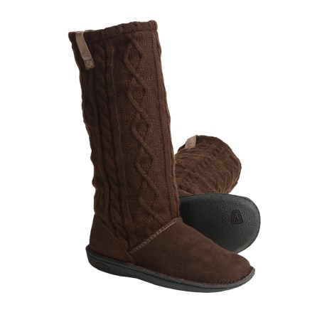 Keen Auburn Boots - Suede, Sweater-Knit Shaft (For Women)