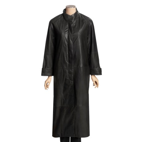 Tibor Leather New Zealand Lamb Coat - Full Length, Zip-Out Liner (For Women)