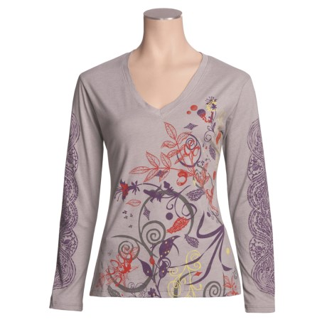 Isis Elemental Shirt - Cotton Jersey, V-Neck Long Sleeve (For Women)