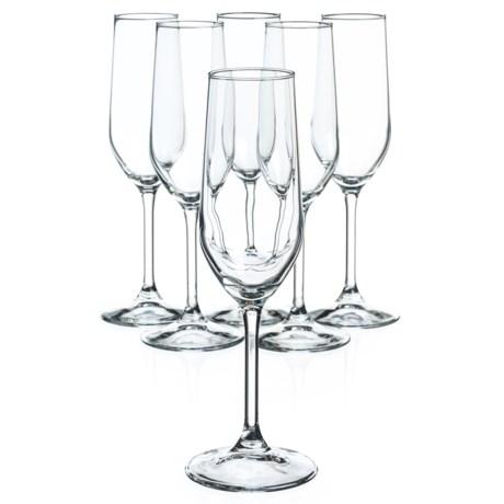 Bormioli Rocco Riserva Champagne Glasses - 7 oz., Set of 6