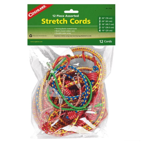 Coghlan's Assorted Stretch Cords - 12-Piece Set