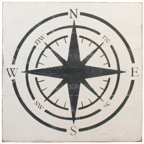 """Seven Anchor Designs Compass Sign - 36x36"""""""