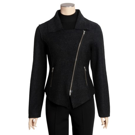 Katherine Barclay Boiled Wool Jacket - Offset Zip (For Women)