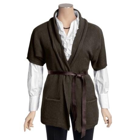 Katherine Barclay Cardigan Sweater - Wool-Alpaca, Short Sleeve (For Women)