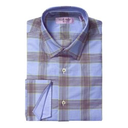 Equilibrio Gingham Plaid Sport Shirt - Egyptian Cotton, Long Sleeve (For Men)