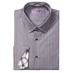 Equilibrio Satin Stripe Sport Shirt - Testa®, Long Sleeve (For Men)