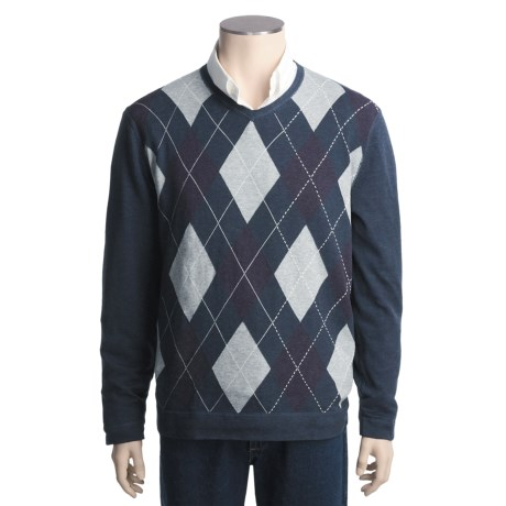 Nat Nast Clubhouse Argyle Sweater - High V-Neck (For Men)