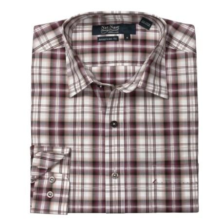 Nat Nast Plaid About You Sport Shirt - Cotton, Long Sleeve (For Men)