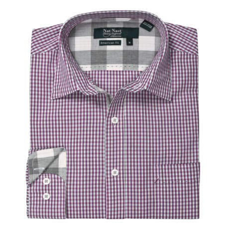 Nat Nast Just Checking In Sport Shirt - Cotton, Long Sleeve (For Men)