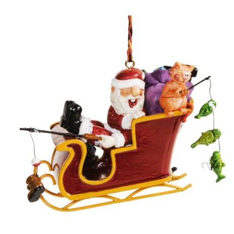 Outside Inside Santa Ornaments - Outdoor Themed