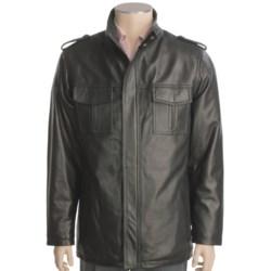 Tibor Leather Lambskin Jacket - Hip Length (For Men)