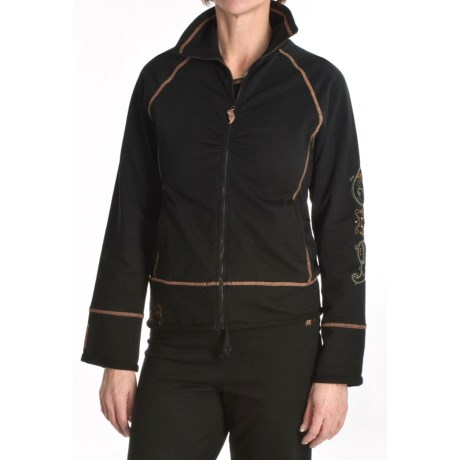 Calispia Artisan Embroidered Jacket - Stretch French Terry Cotton (For Women)
