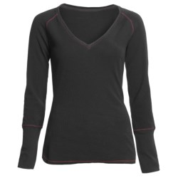 Jeremiah Stacie V-Neck Shirt - Cotton Slub Waffle, Long Sleeve (For Women)