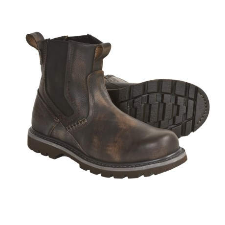 Slip On Work Boots Rock Review Of Caterpillar Revival