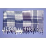La Fiorentina Square Bordered Print Scarf - Fringe (For Women)