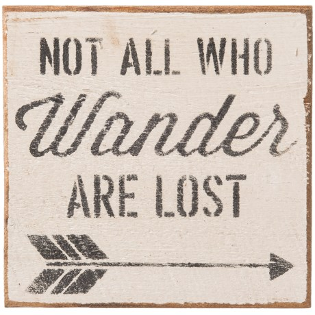 Seven Anchor Designs Not All Who Wander are Lost Wooden Sign - 10x10""
