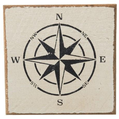 """Seven Anchor Designs Compass Sign - 9.5x9.5"""""""