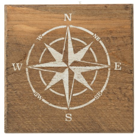 Seven Anchor Designs Compass Sign - 9.5x9.5""
